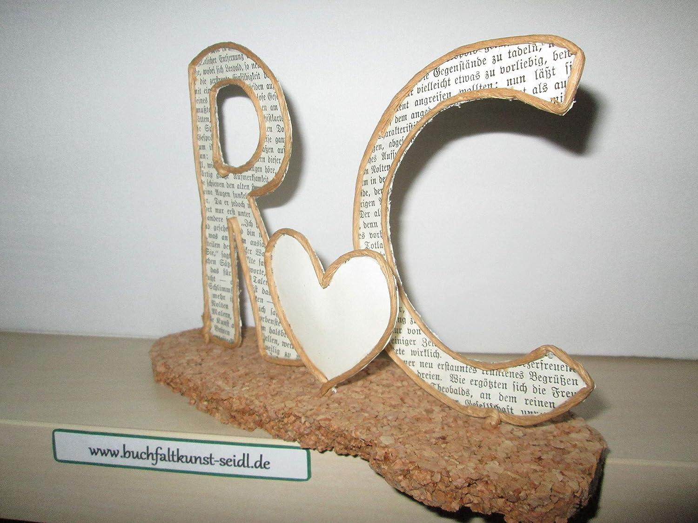 f/ür Geburtstag//Hochzeit//Valentinstag//Jahrestag//Weihnachten 12 cm Draht-Initialen ca z.B personalisierbar//individualisierbar oder als Dekoration als Geschenk