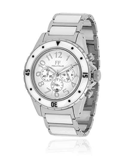 Folli Follie Reloj con movimiento Miyota WF8T031BEW Blanco/Metal Plateado 39 mm