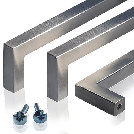 METRIK IKEA-Maniglia per porta, in acciaio inox, confezione da 2 ...