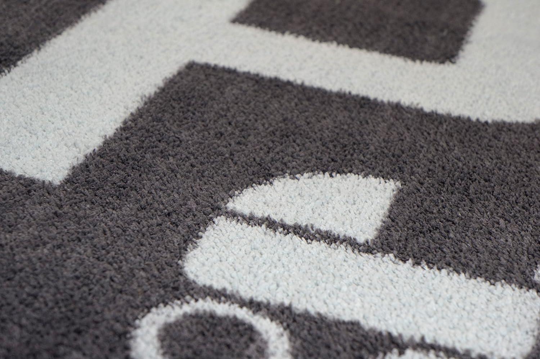 Schmutz-Unterlage f/ür Kinderwagen /& Buggy//waschbarer Funktionsteppich 67x110cm sch/ützt den Boden//stark saugende Mikrofaser//praktisches Zubeh/ör grau -Parkplatz