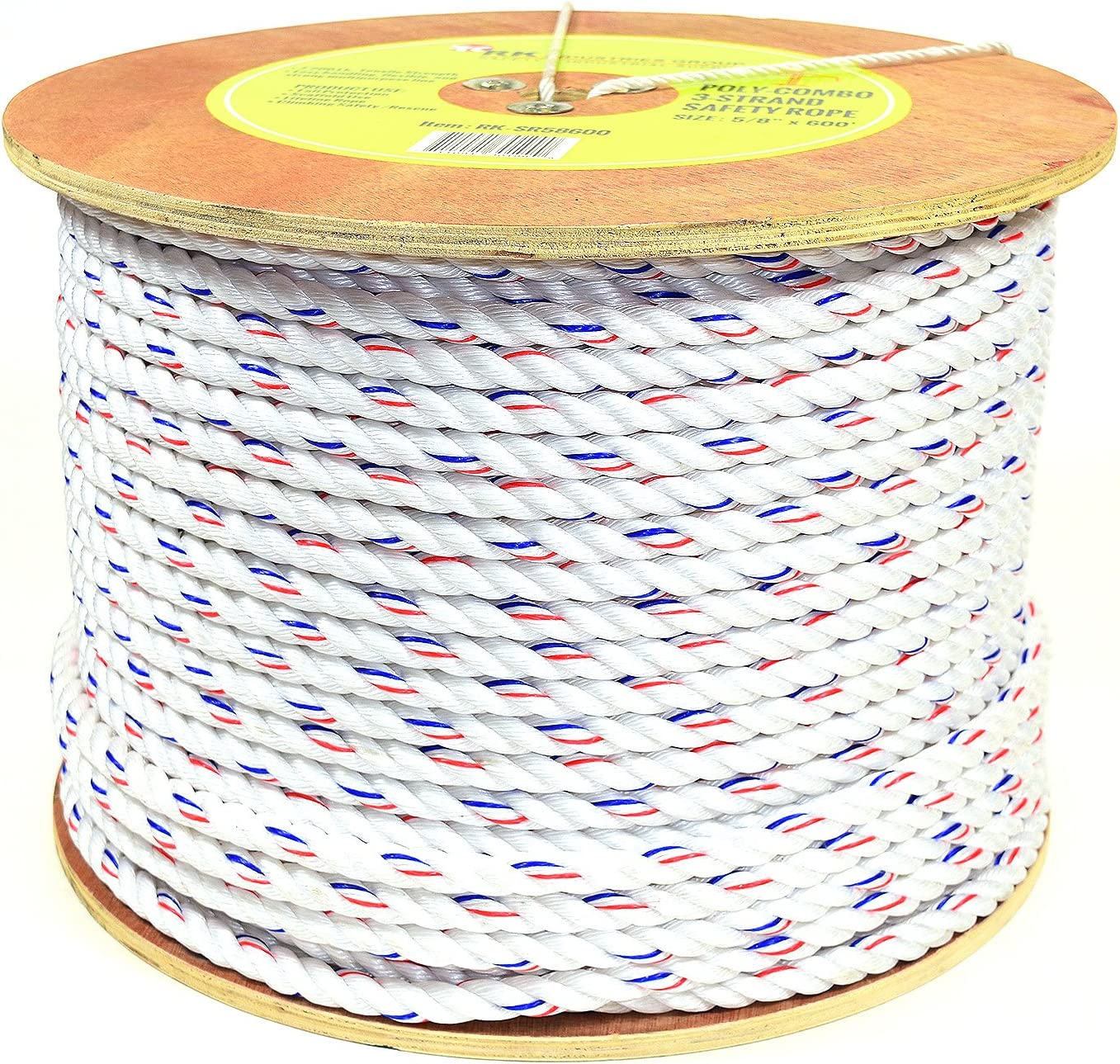 STR Poly Rope 6 mm Blue 30 M Fixations /& Hardware Corde-GZ86560
