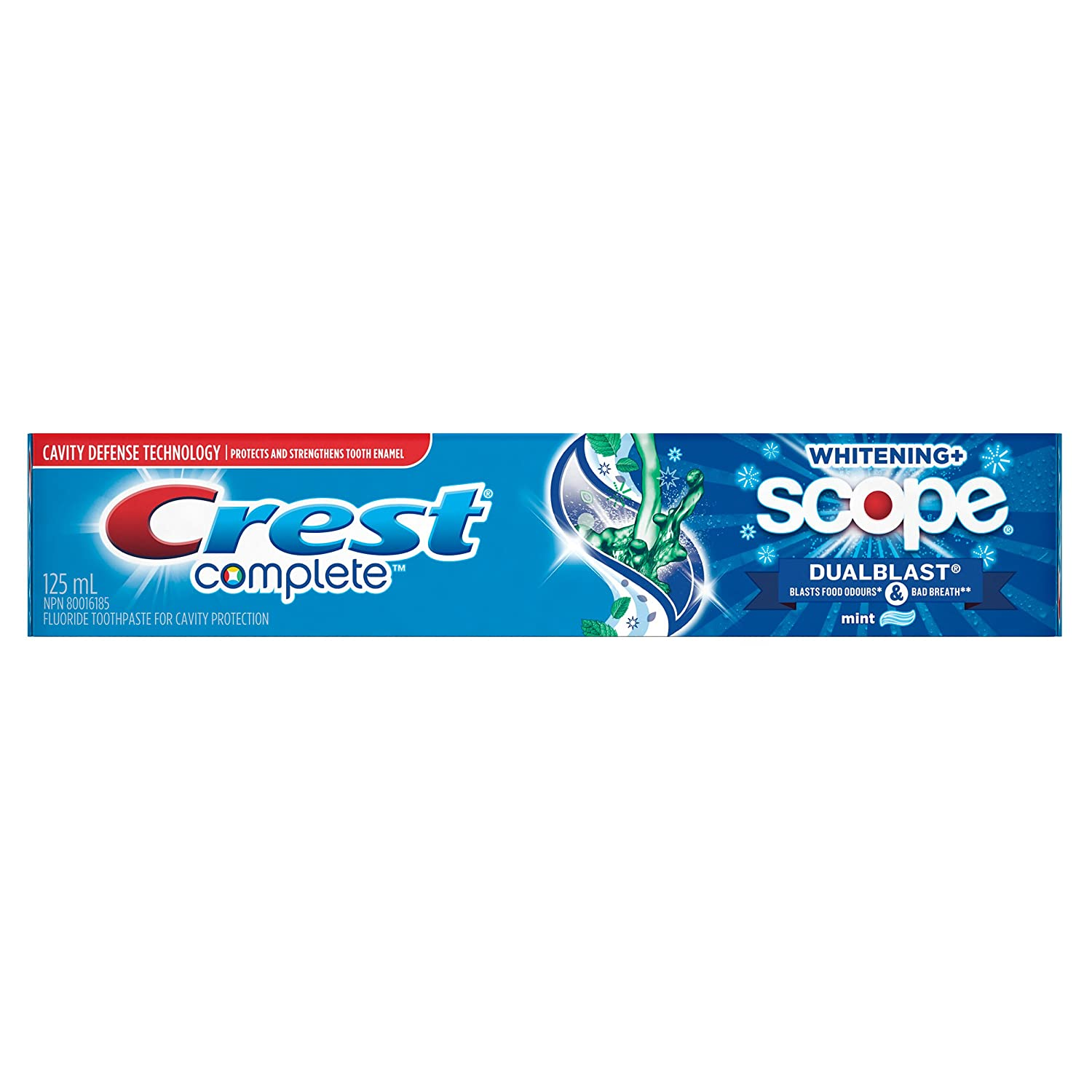 Crest Complete Extra White With Scope Dual-Blast Toothpaste/3D White Luxe Glamorous Toothpaste(Packaging May Vary)