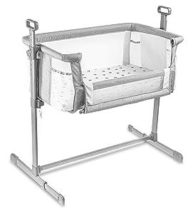 Milliard Bedside Bassinet Mesh Breathable Side Sleeper/Portable Infant Crib