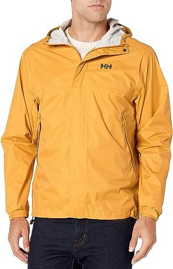 Helly Hansen Mens Loke Waterproof Hooded Jacket Top Orange Sports Outdoors