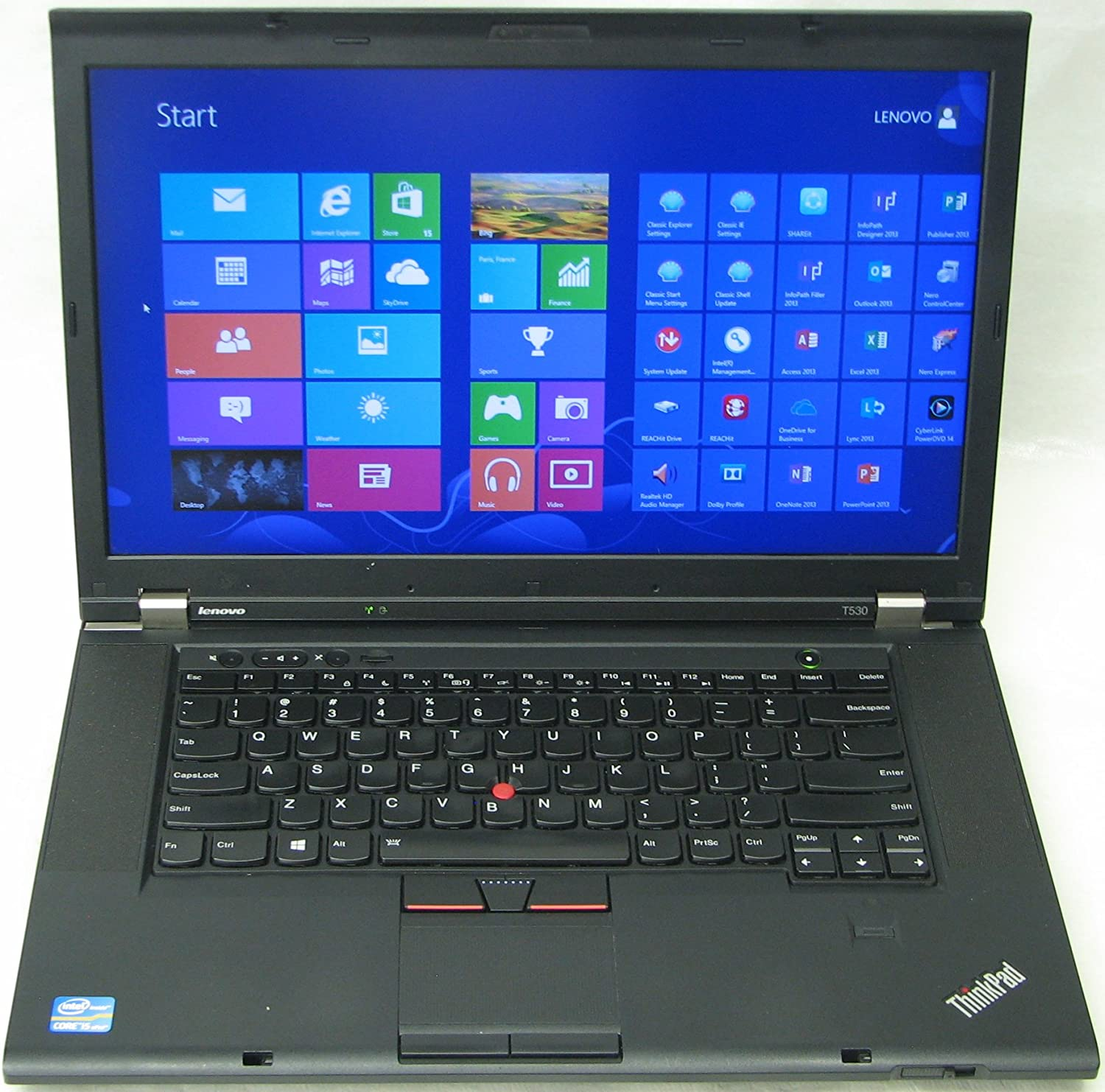 "Lenovo Thinkpad 15.6"" Laptop with Intel Core i7-3720QM Quad-Core Processor, 16GB RAM, and 500GB Hard Drive"