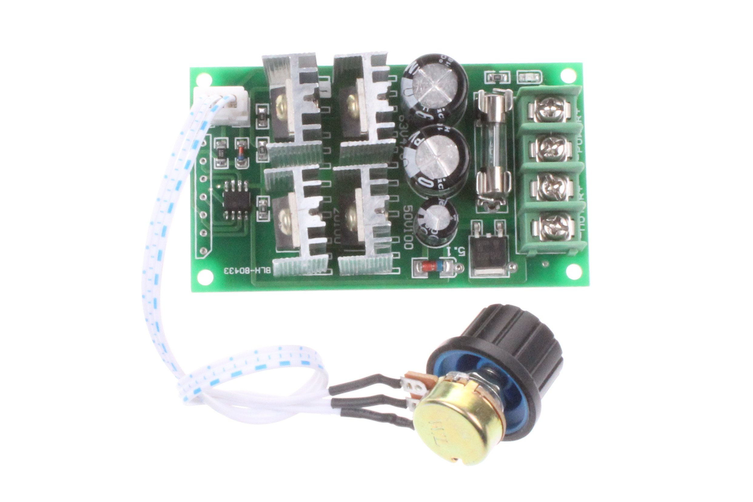 NOYITO 30A DC Motor Speed Controller DC 12V 24V 36V 48V 6-60V Brush Motor Controller Speed Range 0-100% Support PLC 0-5V MCU (30A) by NOYITO (Image #3)