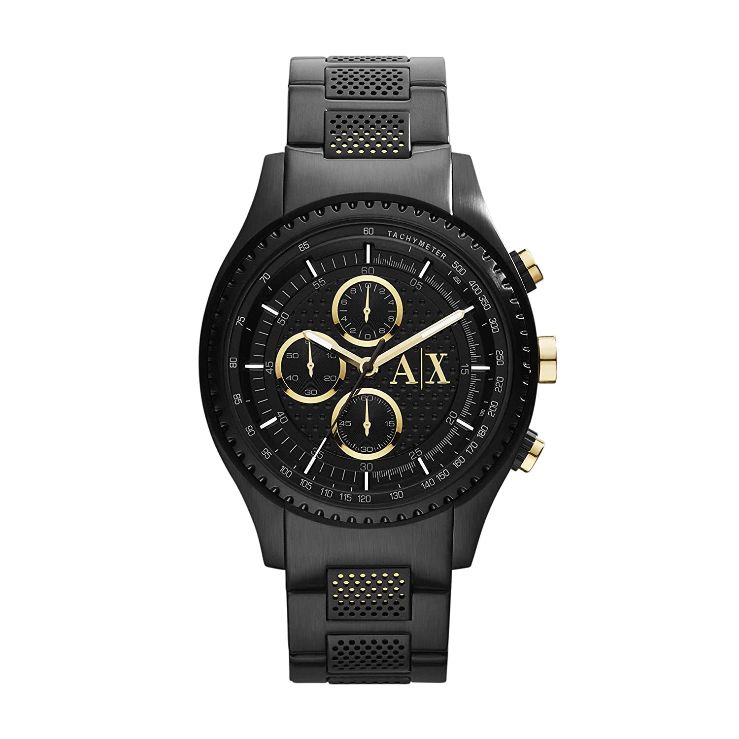 A X Men s Black Stainless Steel Watch AX1604