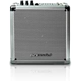 Pure Acoustics Wireless Portable Bluetooth PA Speaker System with Built-in Rechargeable Battery - Includes Wireless Mic MCP-50 Entertainment Medium Sized - Silver Grille