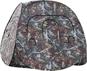 culpeo Hunting Blind, 2-3 Person Hunting Ground Blind, Portable Hunting Blind Woodland Camo, Ground Blinds for Deer Hunting