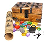 Well Pack Box Wood Pirate Treasure Chest