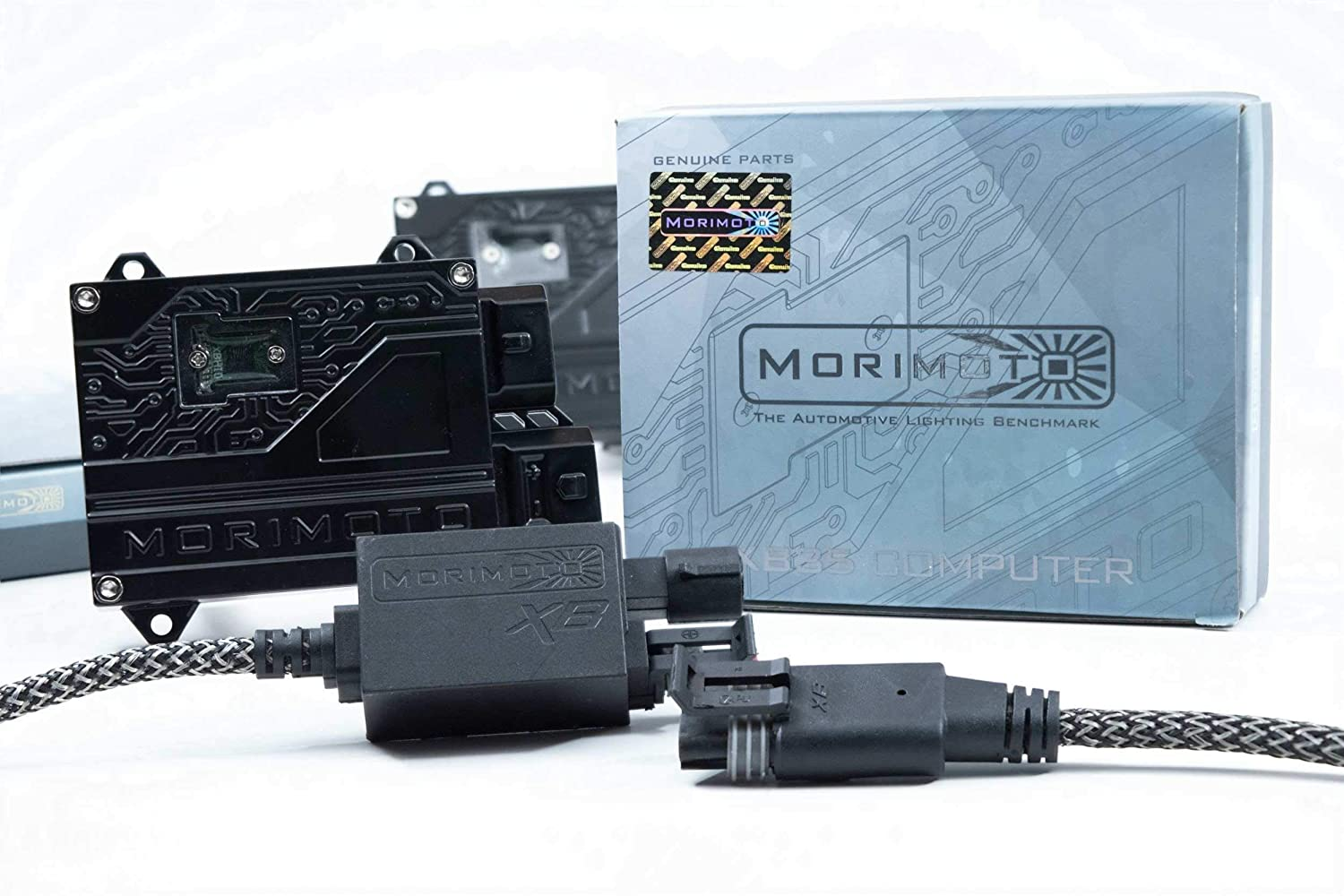 H11 Morimoto Elite HID Kit System With XB55 50W Ballasts and XB35 H11 6500K Bulbs