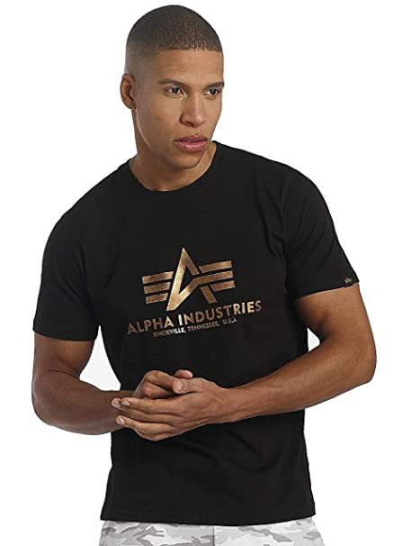 Alpha Industries Basic T-Shirt, Camiseta para Hombre: Amazon.es ...
