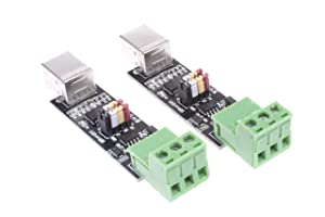 NOYITO USB to TTL RS485 Serial Converter Adapter Module FTDI Interface Board FT232RL Module Dual-Function/Dual-Protection - 2Pcs