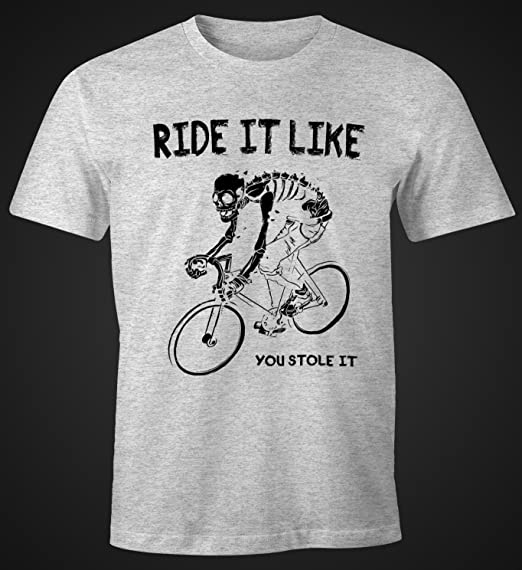 Herren T-Shirt Rennrad Fahrrad Bike Ride it like you stole it Moonworks®:  Amazon.de: Bekleidung