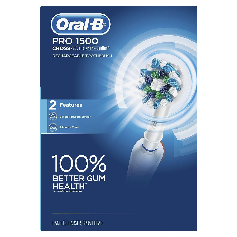 Amazon.com: Oral-B Pro 1500 CrossAction Cepillo dental ...