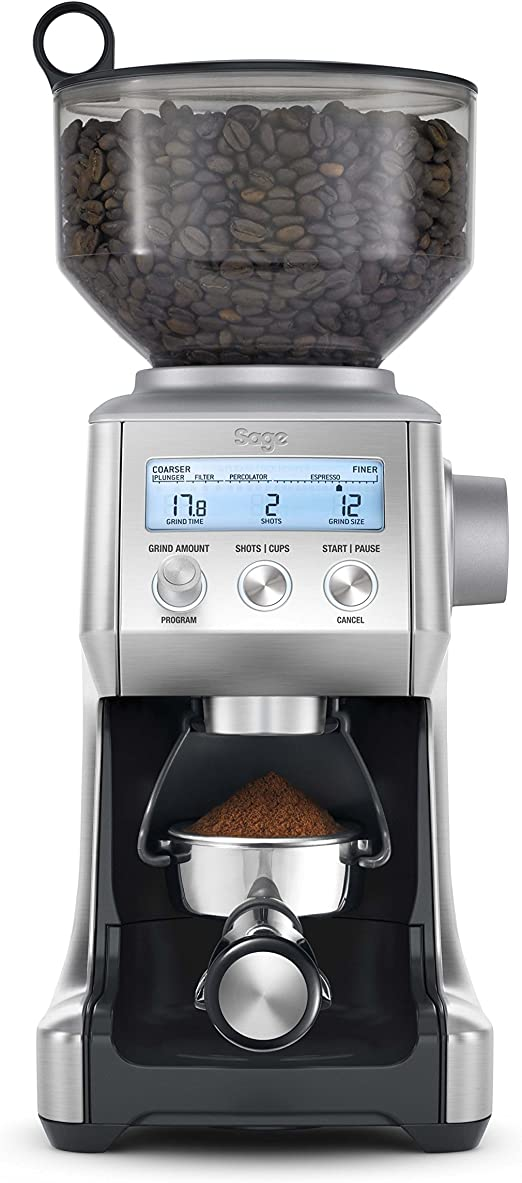 Sage Bcg820bssuk The Smart Grinder Pro Coffee Grinder Silver