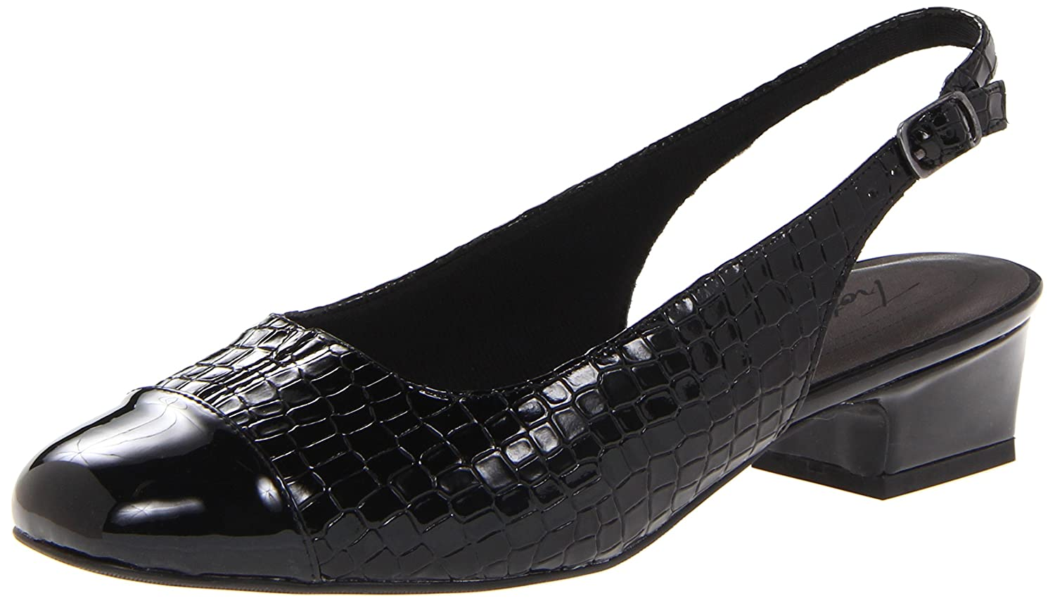 Trotters Women's Dea Pump B00BMYF3PK 8 W US|Black Crocodile