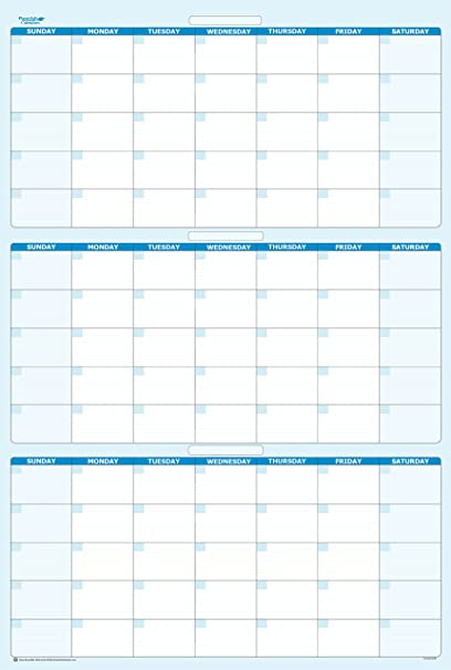 amazon com sky blue 90 day 3 month vertical dry wet erasable wall