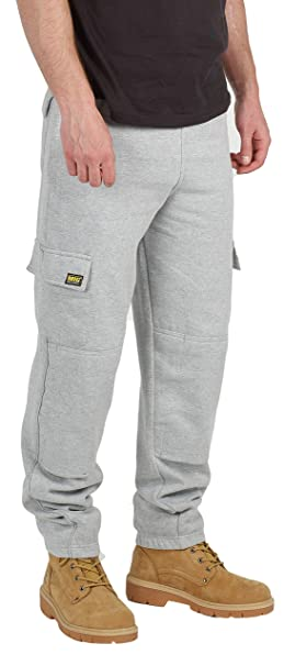yet not vulgar amazing selection excellent quality MIG - Mud Ice Gravel Mens Combat Cargo Work Tracksuit Jogging Bottoms with  Knee Pad Pockets Fleece Pants