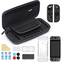 iAmer 11 in 1 Starter Kits for Nintendo Switch,Include Carrying Case and Cover Case for Switch,3 Screen Protector…