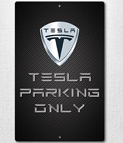 Amazon.com: Custom Tesla Parking Only Sign: Everything Else