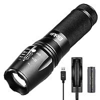 Elekin torcia 2000 LM CREE XM-L T6 LED, impermeabile, 5 modalità di illuminazione, con batteria 18650 e Ladee involontarie