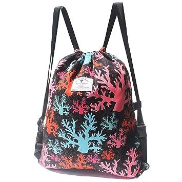 Amazon.com: Mochila con cordón, bolsa de playa, bolsa de ...