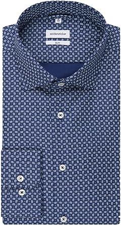 Seidensticker - Camisa para Hombre, de Negocios, Fina, de Manga Larga, Cuello de kenta, fácil de Planchar: Amazon.es: Ropa y accesorios