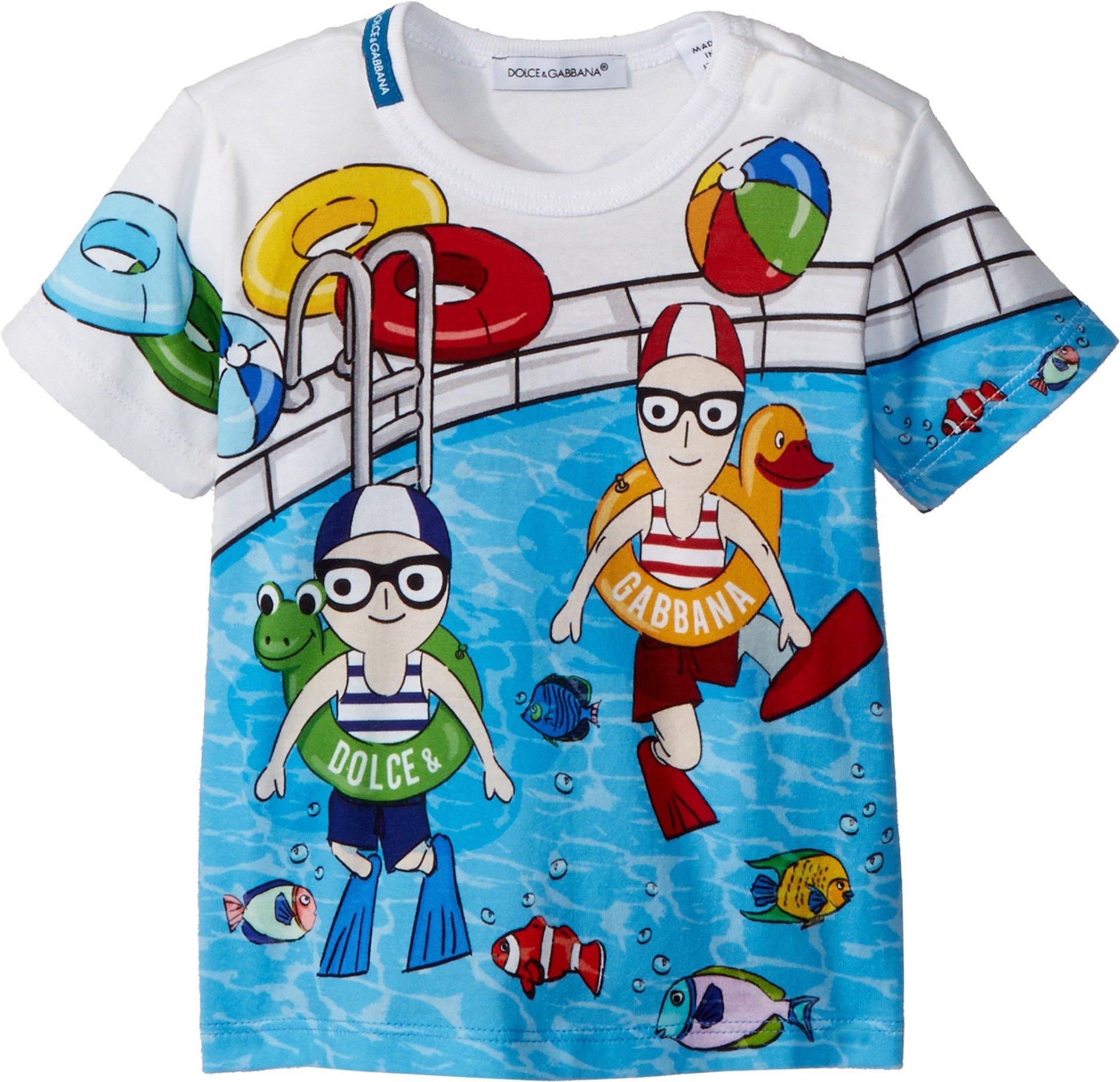 Dolce & Gabbana Kids Baby Boy's T-Shirt (Infant) Blue Print 6-9 Months