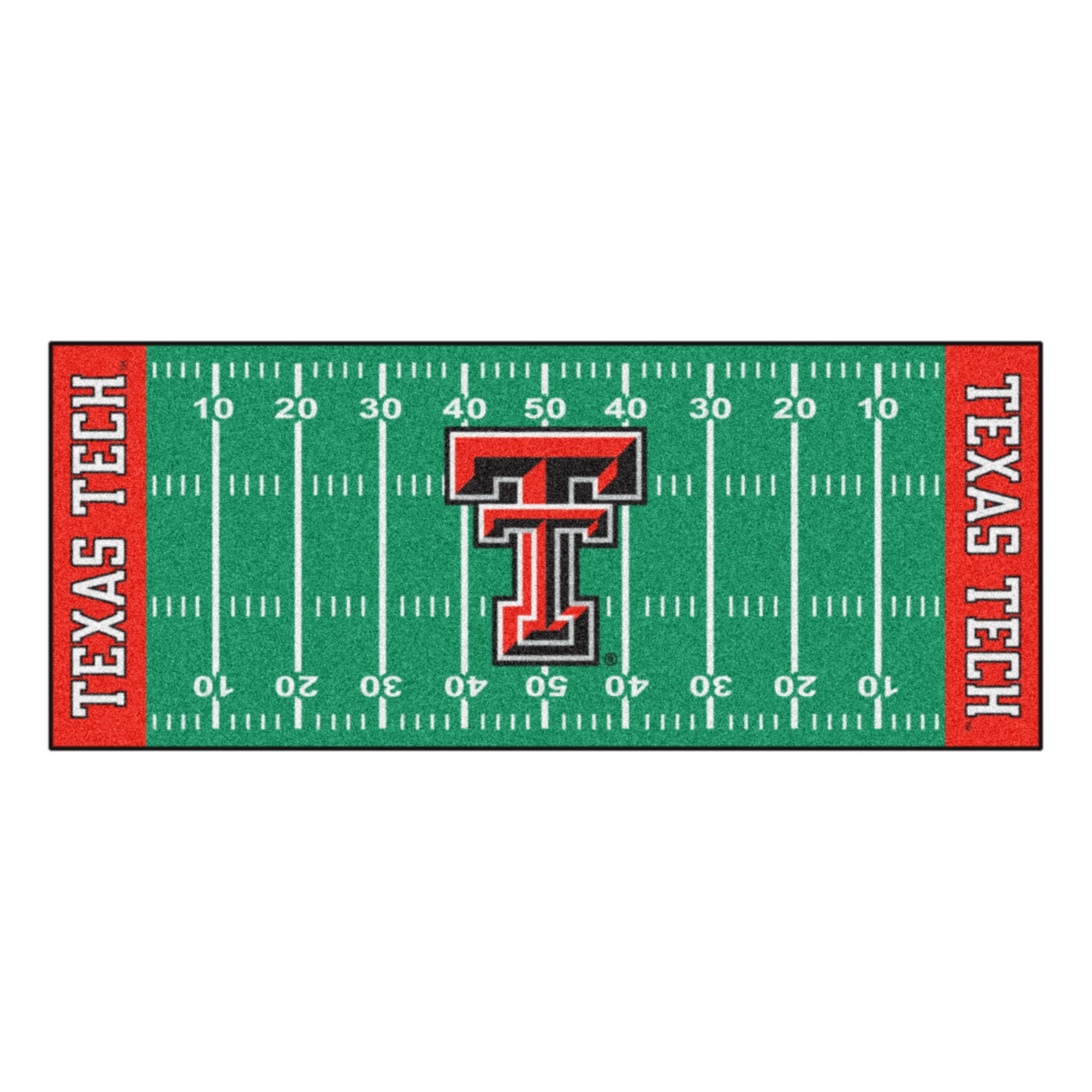 NCAA Texas Tech University Red Raiders Football Field Runner Mat Area Rug