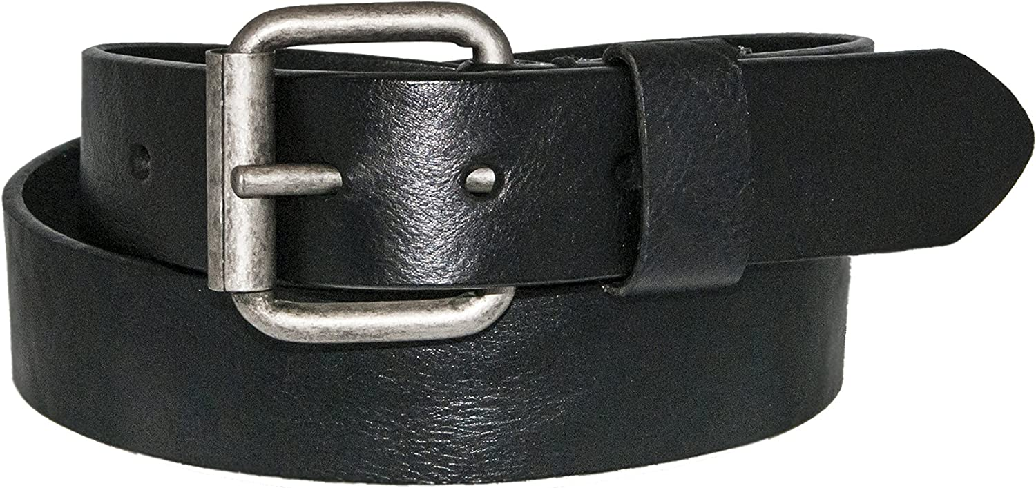 Silver Canyon Mens Oil Tanned Leather Black Belt