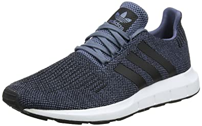 adidas Mens Swift Run, RAW SteelCORE BlackFootwear White (8 M