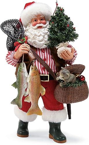 Department 56 Santa Cat Fish, 10.5 Figurine, Multicolor