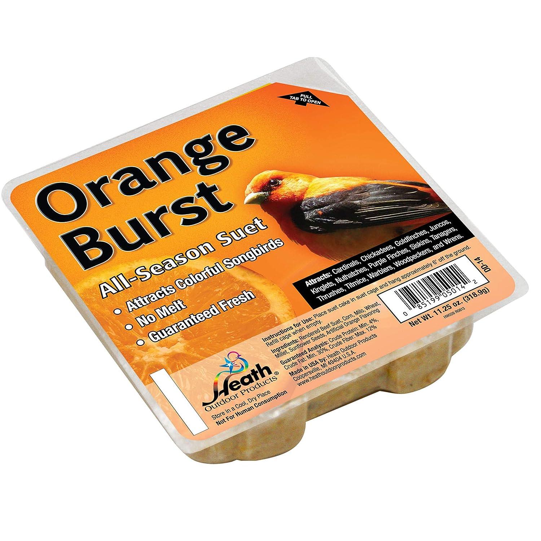 Heath Outdoor Products DD-14 Orange Burst Suet Cake, 11.25 oz, Case of 12