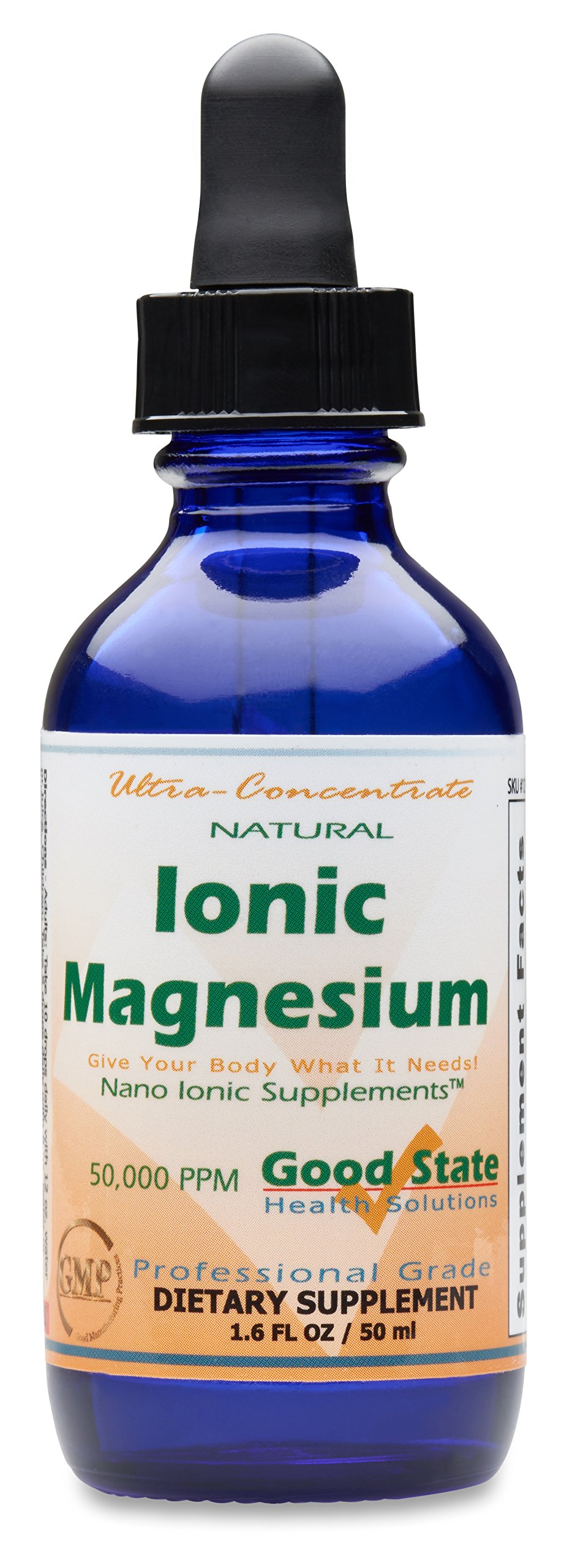 (Glass Bottle) Good State Liquid Ionic Magnesium Ultra Concentrate (10 drops equals 50 mg - 100 servings per bottle)