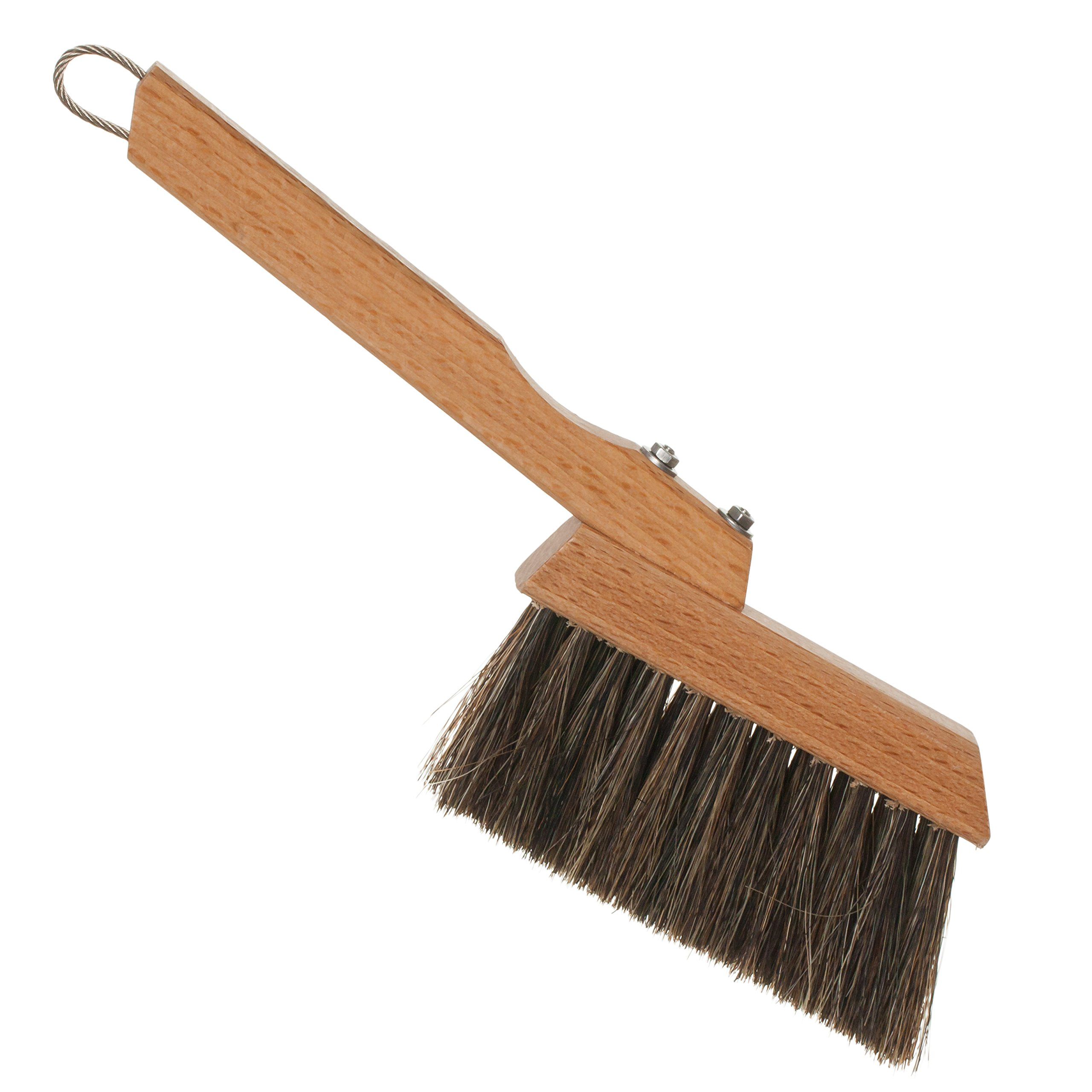 Redecker Horsehair Espresso/Coffee Brush with Oiled Beechwood Handle, 9-Inches