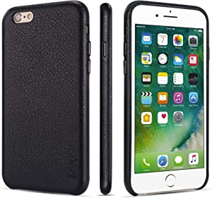 rejazz iPhone 6 Case iPhone 6s Case Anti-Scratch iPhone 6 Cover iPhone 6s Cover Genuine Leather Apple iPhone Cases for iPhone 6/6s (4.7 Inch)(Black)