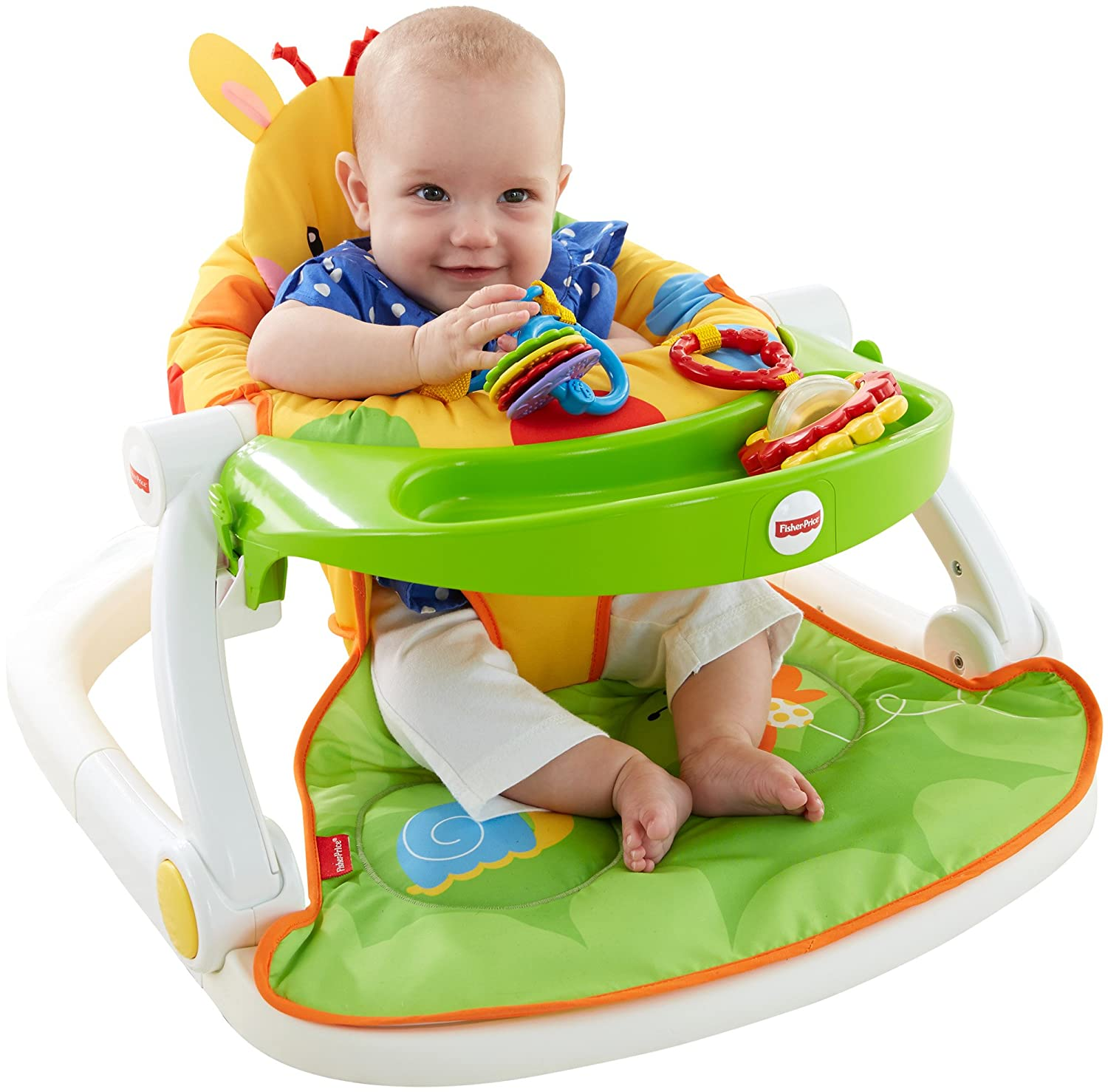 Amazon Fisher Price Sit Me Up Floor Seat with Tray Giraffe
