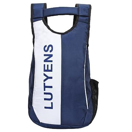 818d58fff3 Lutyens Polyester 21 Litre Blue White Black Smart School Bag  Amazon.in   Bags