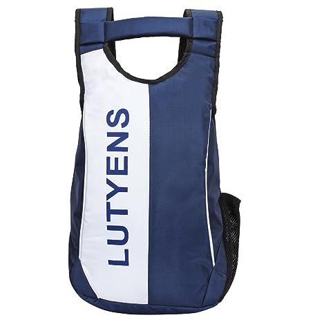a487e7ab585d Lutyens Polyester 21 Litre Blue White Black Smart School Bag  Amazon.in   Bags