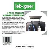 lebogner 4 Pack Car Seat Headrest Hooks Strong
