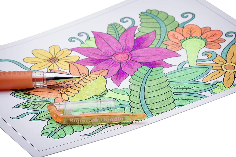 Amazon.com: Super Doodle 160 Glitter Gel Pen Coloring Set- Includes ...