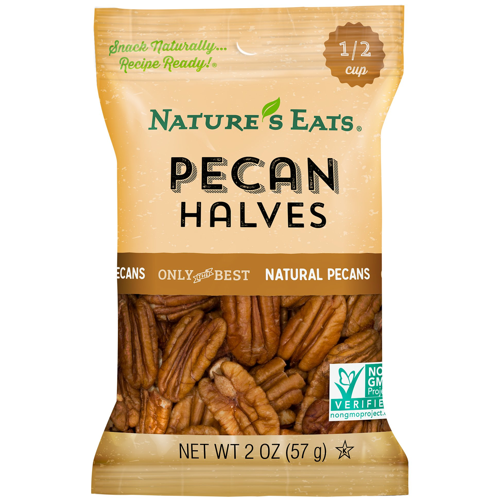 Nature's Eats Pecan Halves, 2 Ounce (Pack of 12)
