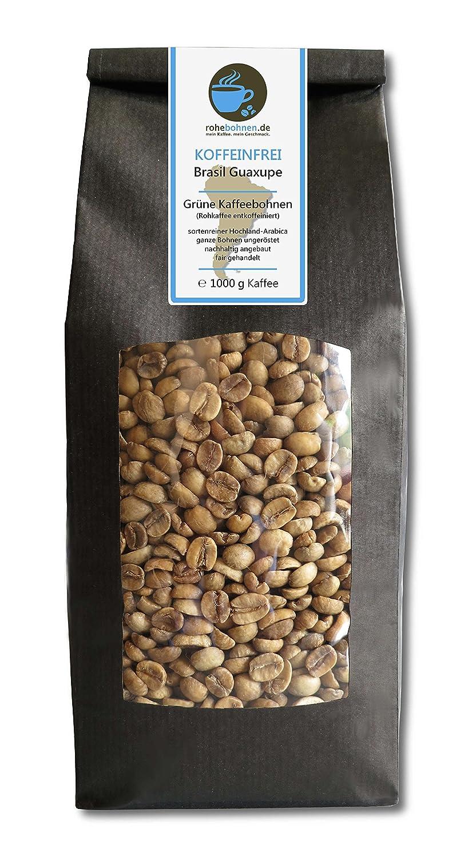 Grüner Kaffee, Rohkaffee koffeinfrei Brasil Guaxupe
