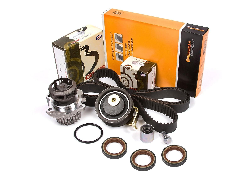 Evergreen TBK306CWPT Fits 99-00 Volkswagen Goft Jetta Beetle TURBO 1.8 DOHC APH AWD AWW Timing Belt Kit Water Pump