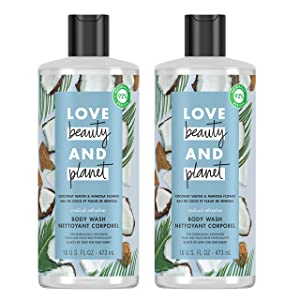 Love Beauty And Planet Radical Refresher Body Wash for Energizing Freshness Coconut Water & Mimosa Flower Hydrating Bodywash 16 oz 2 Count