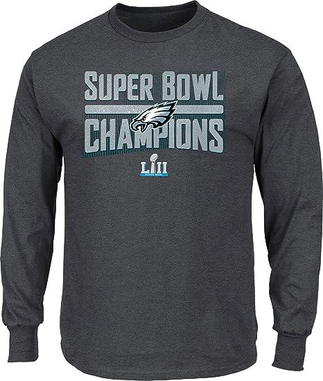 6a39a46d Philadelphia Eagles Charcoal Super Bowl LII Champions Sudden Impact Big &  Tall Long Sleeve T-