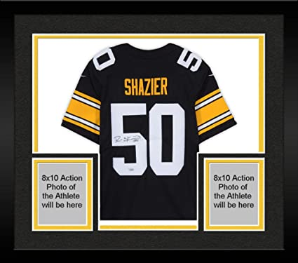timeless design 307d8 f04d5 Framed Ryan Shazier Pittsburgh Steelers Autographed Black ...
