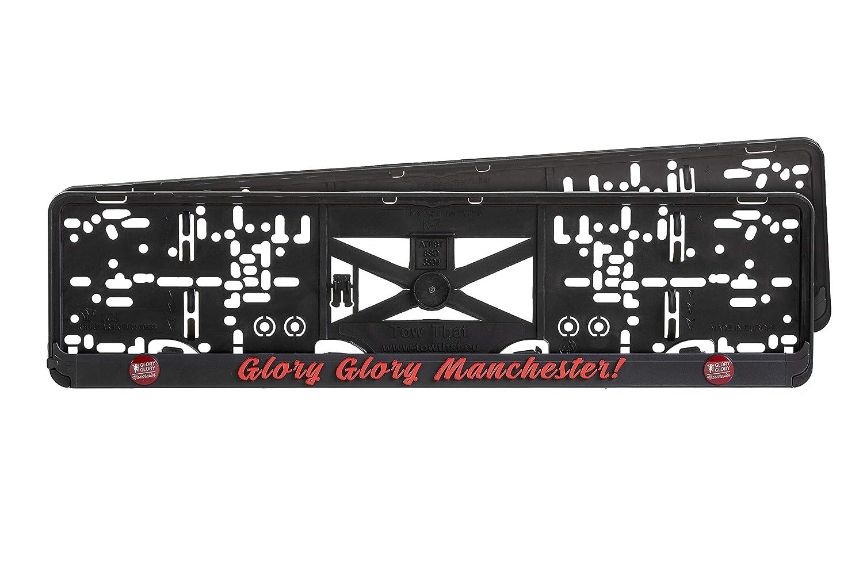 TowThat Limited Edition F.C 2 St/ück PREMIUMQUALIT/ÄT Kennzeichenhalter Set Auto Schwarz Nummernschildhalter Pkw Kennzeichenhalterung Nummernschildhalter Manchester United