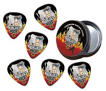 Ninja Ninjas Rock 6 X Púas Para Guitarra In Tin (R1): Amazon ...